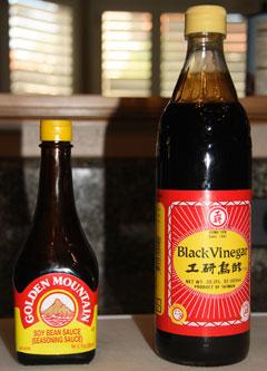Golden Mountian Sauce and Black Vinegar